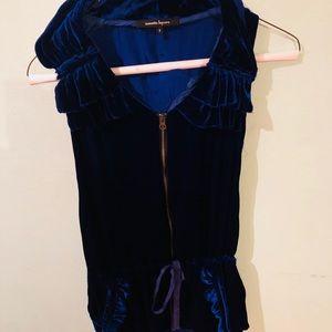Rich blue velvet Nanette Lepore vest. Size 6.